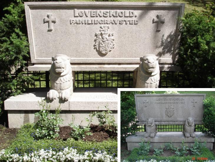 Gravmonument. Ris kirkegård.